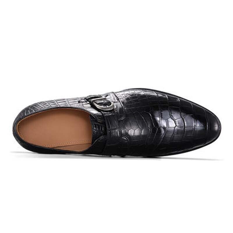 Duanshe-حذاء جلد التمساح للرجال ، أحذية ترفيهية يدوية عالية الجودة ، مجموعة جديدة