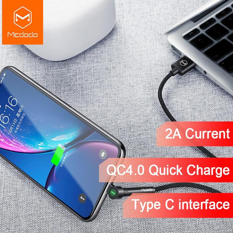 Cable Mcdodo USB tipo C con soporte para teléfono carga rápida 4,0 carga rápida para Xiaomi mi 8 Pro A2 Huawei Samsung Cable USB tipo C