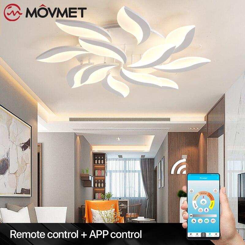 Lámpara LED De Techo moderna plafon, lámpara De Techo con atenuación remota táctil, luces De dormitorio, comedor, lámparas De Techo