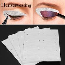 64pcs/lot Lazy Useful Women Eye Shadow Moulds Card New Makeup Moulds Draw Eyes Tools Set
