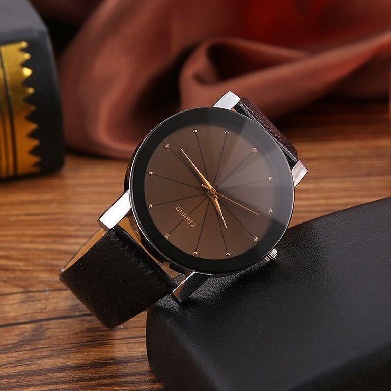 Reloj de cuarzo para mujer ocio Pu relojes de piel a la moda Brife Casual relojes hombres unisex reloj de pulsera Saati reloj mujer gran oferta regalo