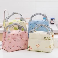 portable oxford cloth thermal insulated bag work picnic school beach lunch box bag large capacity bento pouch lunch tote bags
