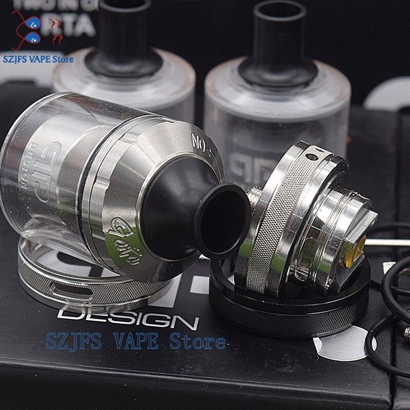 QP gata qp Design Fatality M25 RTA Rebuildable  316ss 510 Threads 24mm Diameter  Multiple Coil Configuration vs kylin v2  Zeus enlarge