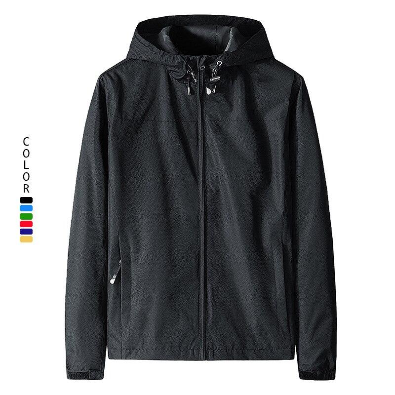 Осенняя Куртка мужская спортивная куртка ветрозащитная и водонепроницаемая мужская Тонкая куртка большого размера