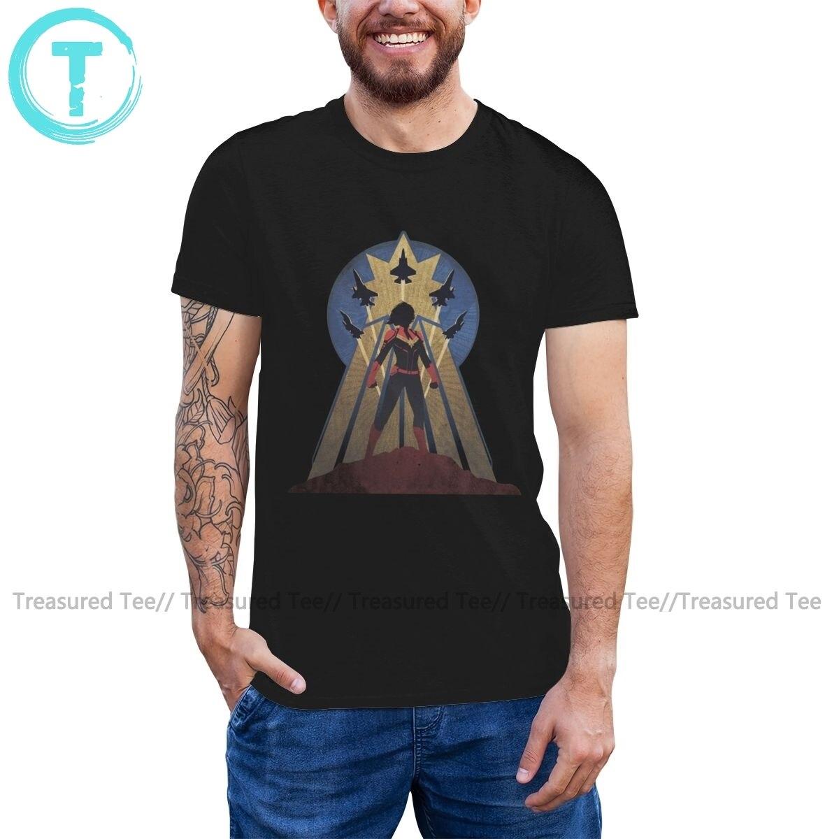Camiseta de capitán Marvel, camiseta de capitán Art Deco Airforce, camiseta para hombre de 6XL, camiseta estampada impresionante, camiseta 100 de algodón
