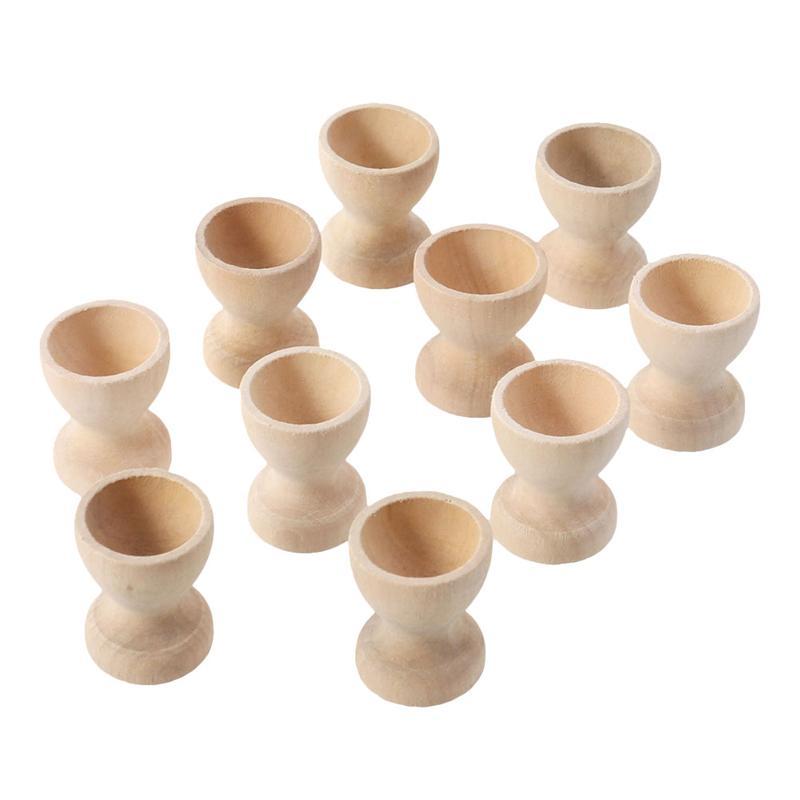 20 шт., пасхальный деревянный держатель для яиц, сделай сам, поднос для яиц, настольный держатель, чашки, контейнер, деревянный держатель для хранения, игрушки