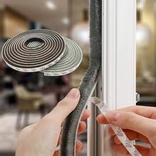 3/5M Door Window Sealing Strip Sound Wind-proof Brush Strip Home Door Window Tape Strip Gasket Self Adhesive Windshield Tape