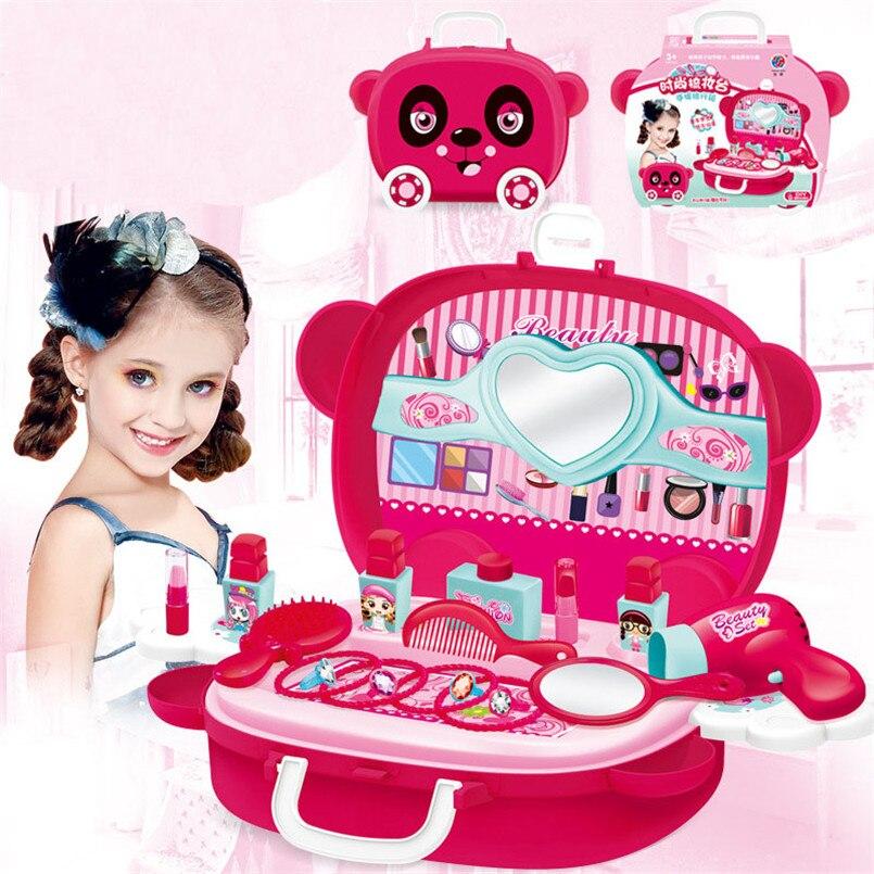 Детские ролевые игры, набор для макияжа, коробка, принцесса, красота, макияж, игрушки для девочек, косметика, симуляция, парикмахерские, Доро...