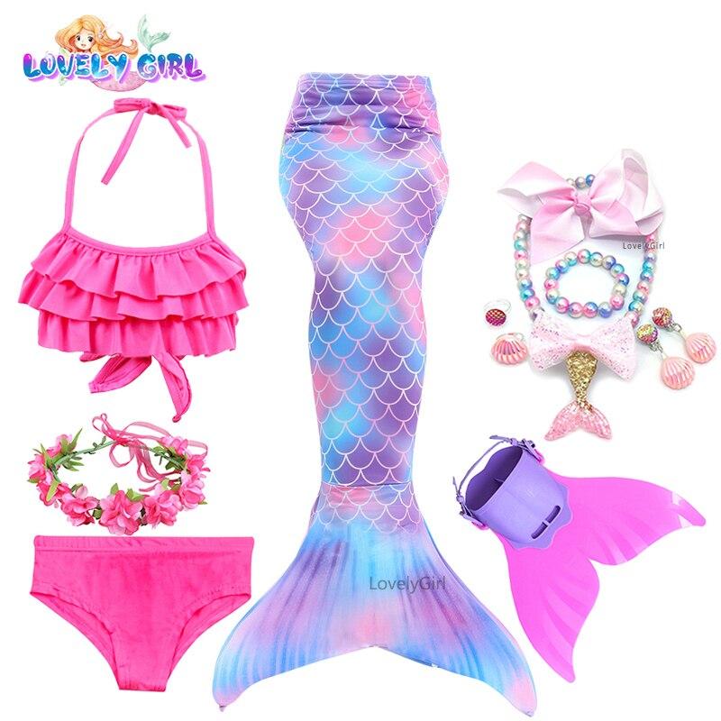 2021 Hot Sale Mermaid Tail Dress Costume Cosplay  Swimmable Swimwear Mermaid Tail Bikini Costume Gif