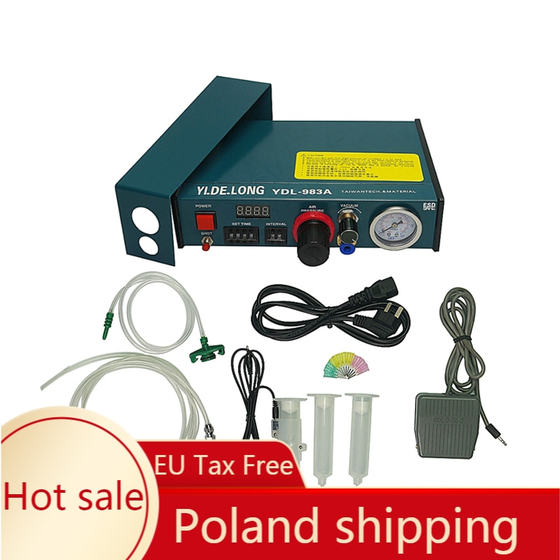 ydl 983a professional precise digital auto glue dispenser solder paste liquid controller dropper 220v drop shipping 220V Auto Glue Dispenser Solder Paste Liquid Controller Dropper Fluid dispenser YDL-983A