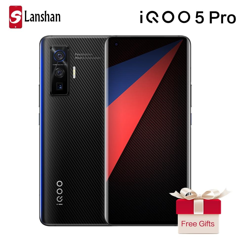 Перейти на Алиэкспресс и купить Оригинальный vivo IQOO 5 Pro Snapdragon 865 5G мобильный телефон 8 Гб 256 50MP 120W зарядки 120 Гц частота обновления Android 10 мобильного телефона
