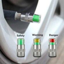 4 قطعة 36PSI السيارات السيارات مراقبة ضغط الإطارات صمام الجذعية قبعات الاستشعار مؤشر العين تنبيه أدوات التشخيص عدة