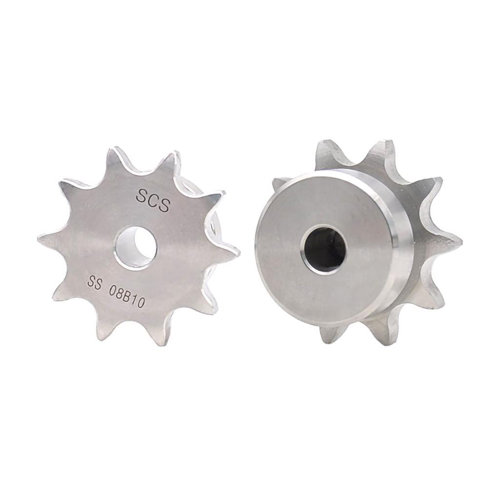 1 قطعة الفولاذ المقاوم للصدأ 08B محرك سلسلة ضرس 10-25 الأسنان سلسلة والعتاد الملعب 12.7 مللي متر الصناعية ضرس عجلة