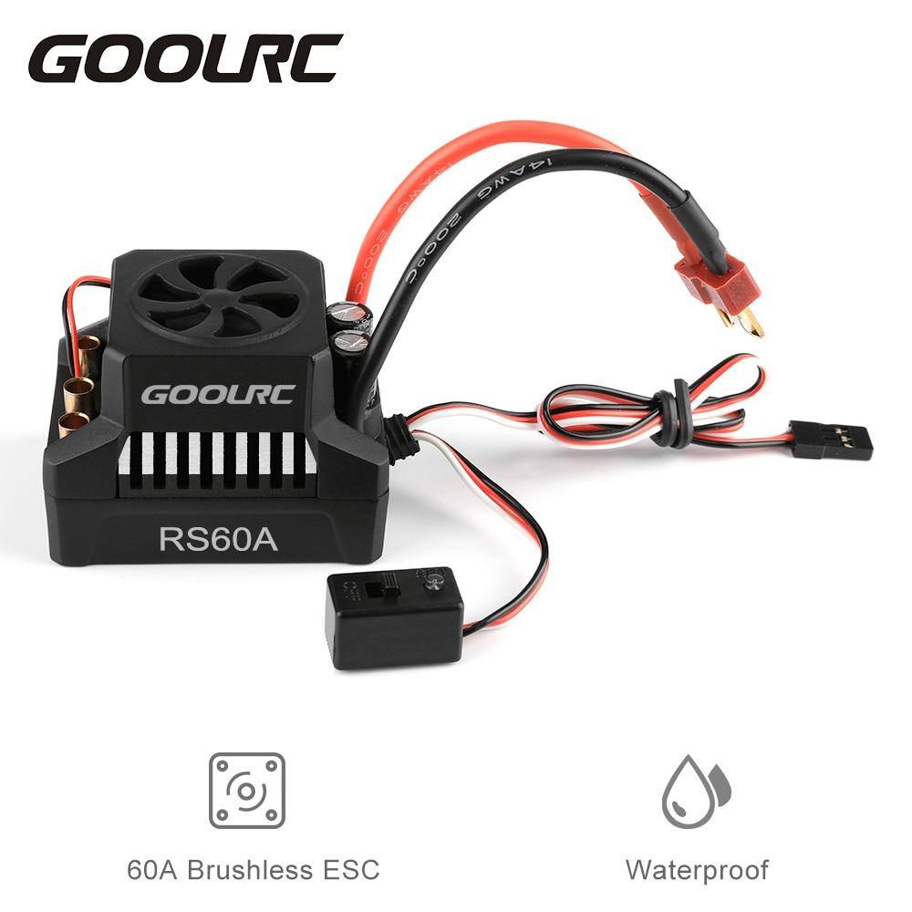 GoolRC 60A ESC controlador de velocidad eléctrico sin escobillas 6V/3A BEC para 1/10 piezas de coche RC