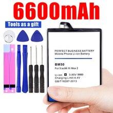Replacement Battery For Xiaomi Mi Max 2 Max2 BM50 Phone Battery 6600mAh