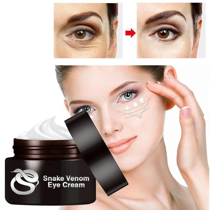 30g Snake Peptide Eye Cream Smooth Fine Lines Lifting Firming Skin Anti-wrinkle Removal Dark Circle Eyes Bags Fat Granule