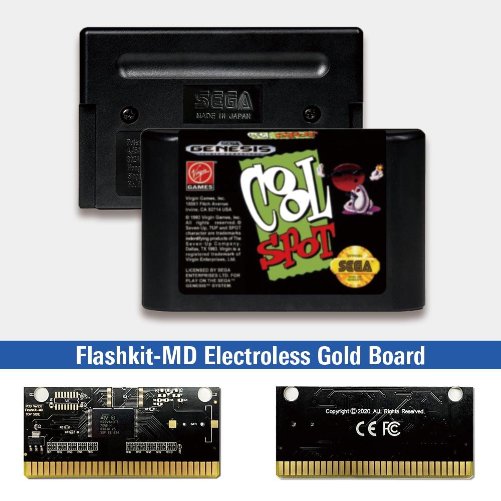 Cool Spot - USA Label Flashkit MD, tarjeta PCB dorada sin electrodos...