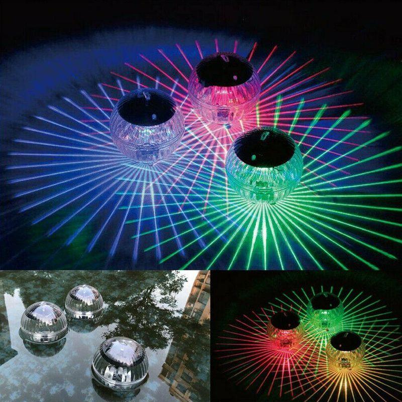 1 Pza LED Luz de discoteca Luz de piscina lámpara de deriva de agua Solar flotante bajo el agua muestra de brillo piscina hidromasaje Spa lámpara Disco