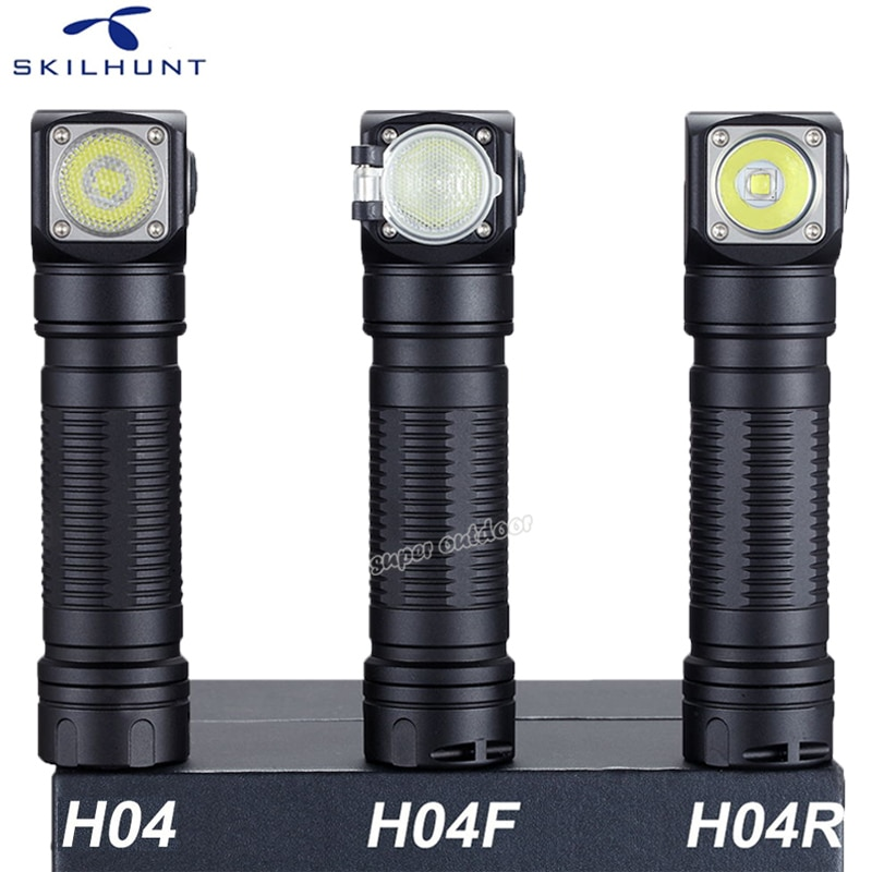 New Skilhunt H04 H04R H04F Led flashlight Two Customized UI Cree XML1200Lm flashlight Hunting Fishing Camping flashligh+Headband