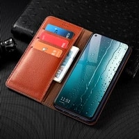 litchi pattern first layer genuine leather case for motorola moro e5 e6 e7 g5 g5s g6 g7 g8 plus play power magnetic flip cover