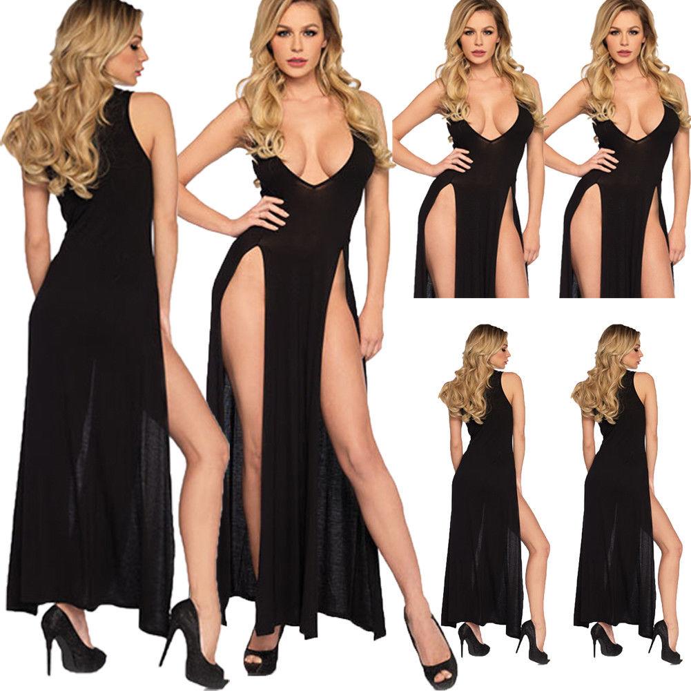 Hot Sale Ladies Fashion Casual Sexy Sleepwear Babydolls Womens Lace Long Dress G-String Lingerie Nightwear Plus Size