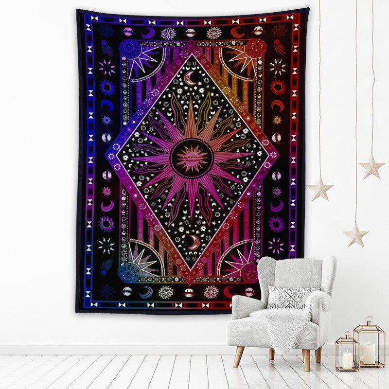 Богемный гобелен Totem, настенные гобелены с цифровым принтом, пляжное полотенце, шаль, простыня, Декор для дома и комнаты
