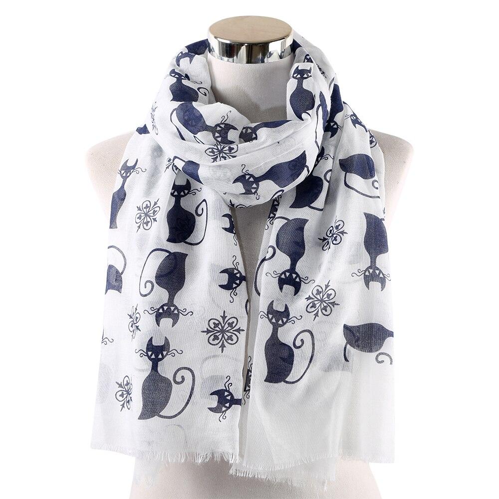 Nueva Bufanda HUOBAO para Mujer, bufandas estampadas con Gato, bufandas para Mujer, bufandas para Mujer, chal, regalos para la madre