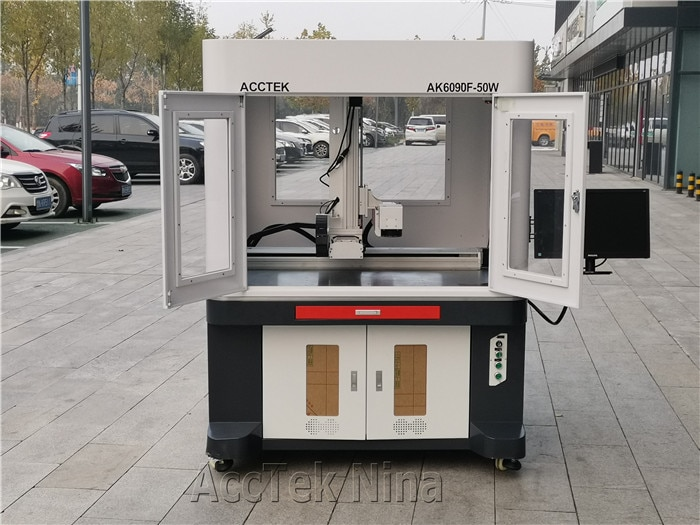 600*900mm Size Fiber Galvo Laser Marking Machine With EZCAD3 Software With 100W enlarge