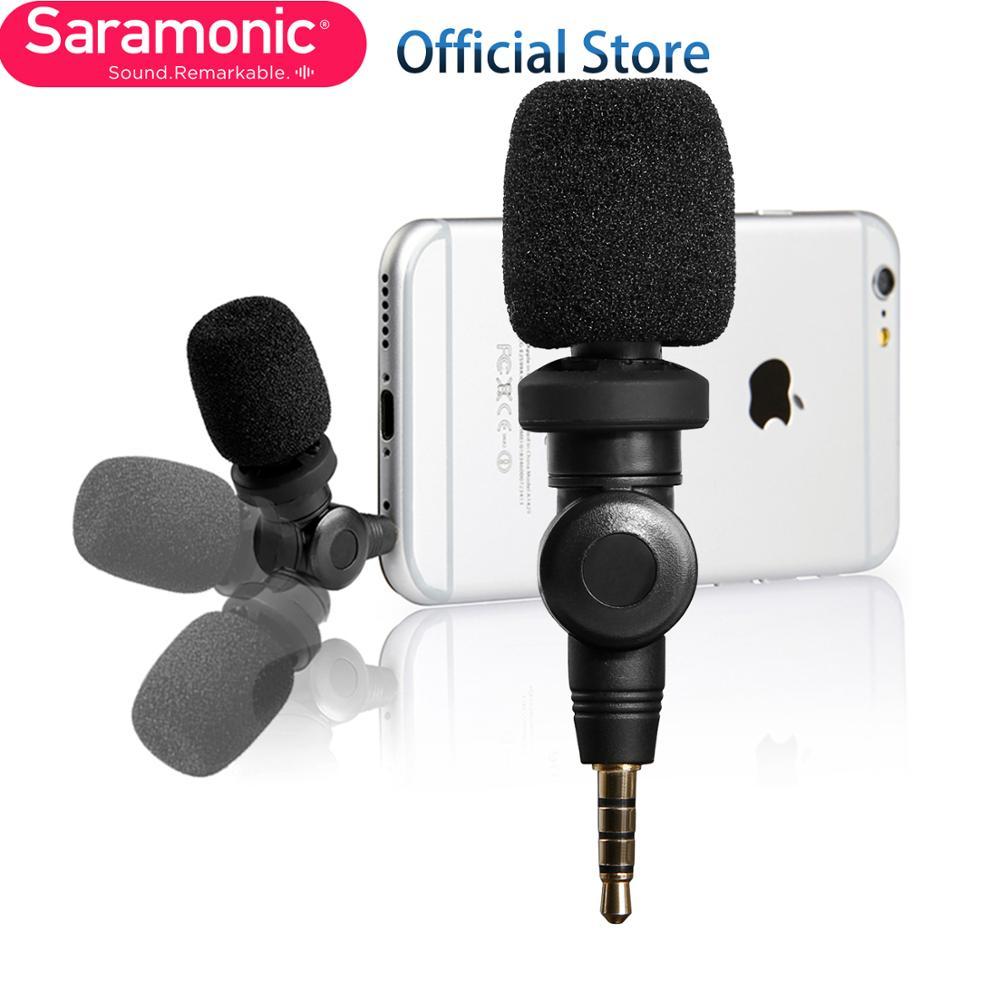 Saramonic SmartMic Flexible con micrófono de alta sensibilidad para Apple IOS iPhone 8X7 7 plus 6 iPad iPod Touch Smartphone Vlog