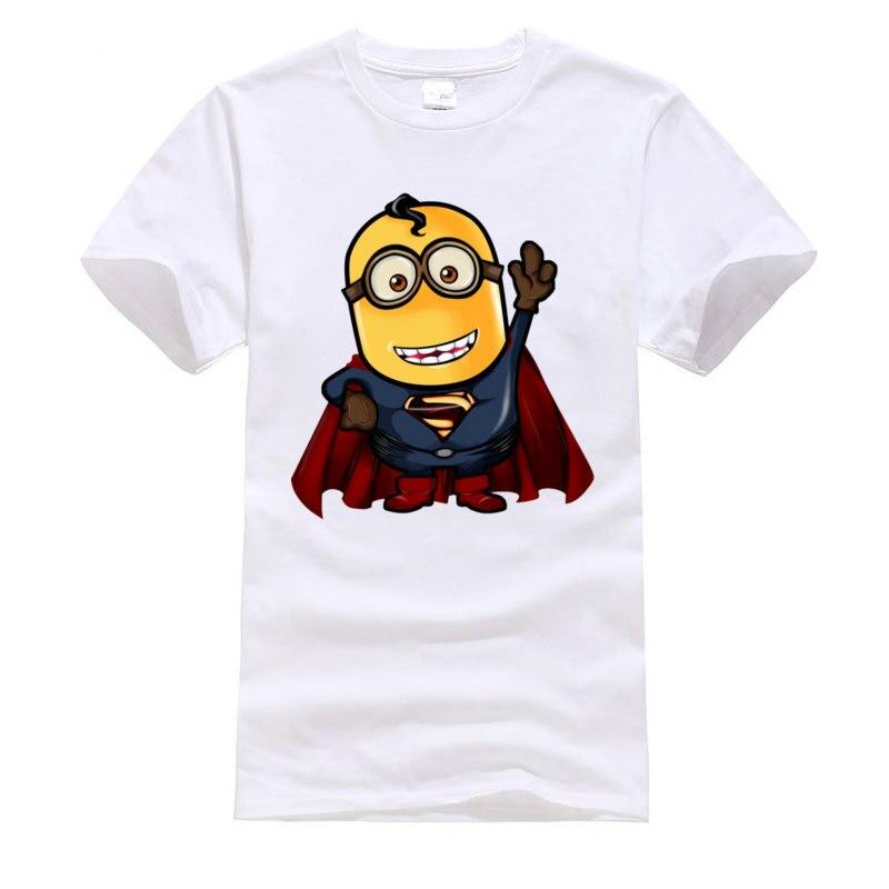Increíble Superman Minion Super Hero Anime camiseta 2019 últimas camisetas divertidas de tela de algodón juvenil camiseta única de dibujos animados