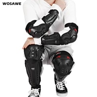 wosawe adults knee elbow pads guards braces safety skateboard ski motocross motorcycle knee protector support protection sports
