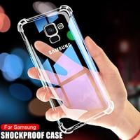 Противоударный Прозрачный чехол для Samsung Galaxy A5, A7, A9, A6, A8 Plus 2018, чехлы для Samsung A11, A21, A31, A41, чехол для телефона