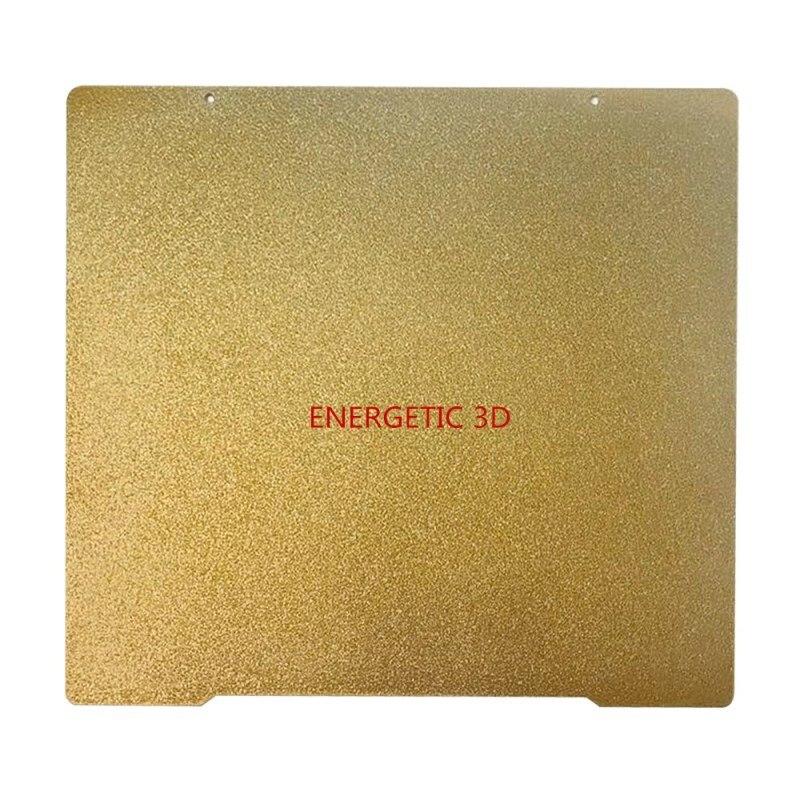 ENERGETIC-سرير حراري لـ Prusa i3 Mk3 ، لوح طباعة فولاذي مقاوم للحرارة ، على الوجهين ، ملمس ناعم ، مطلي بمسحوق PEI ، 241x254mm