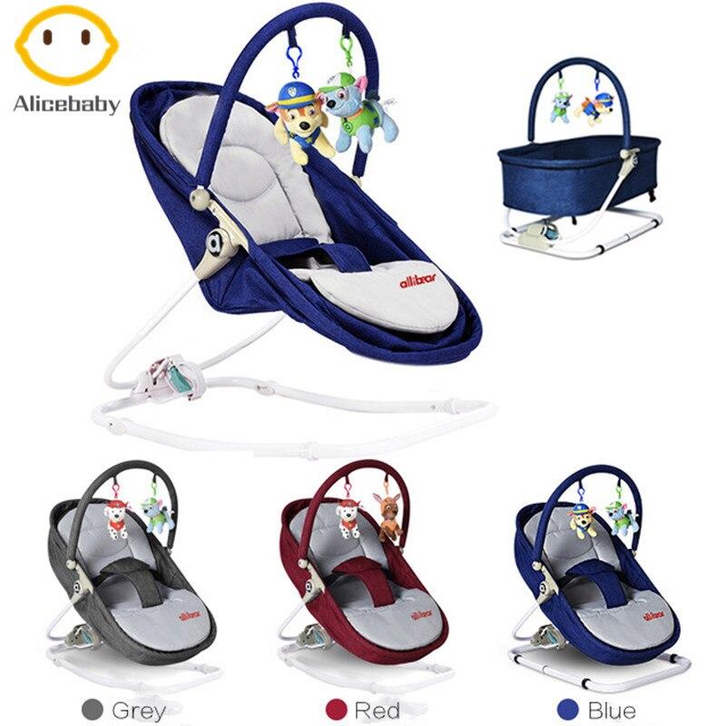 Mecedora de bebé de calidad superior, mecedora, cuna, cama de bebé con juguetes colgantes para recién nacidos de 0 a 36 meses, mejor regalo