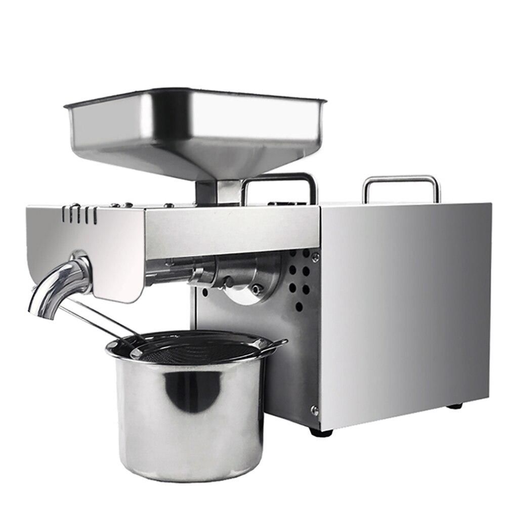 Máquina automática da imprensa de óleo aço inoxidável óleo quente frio extrator óleo 400 w para canola amendoim coco porca sementes