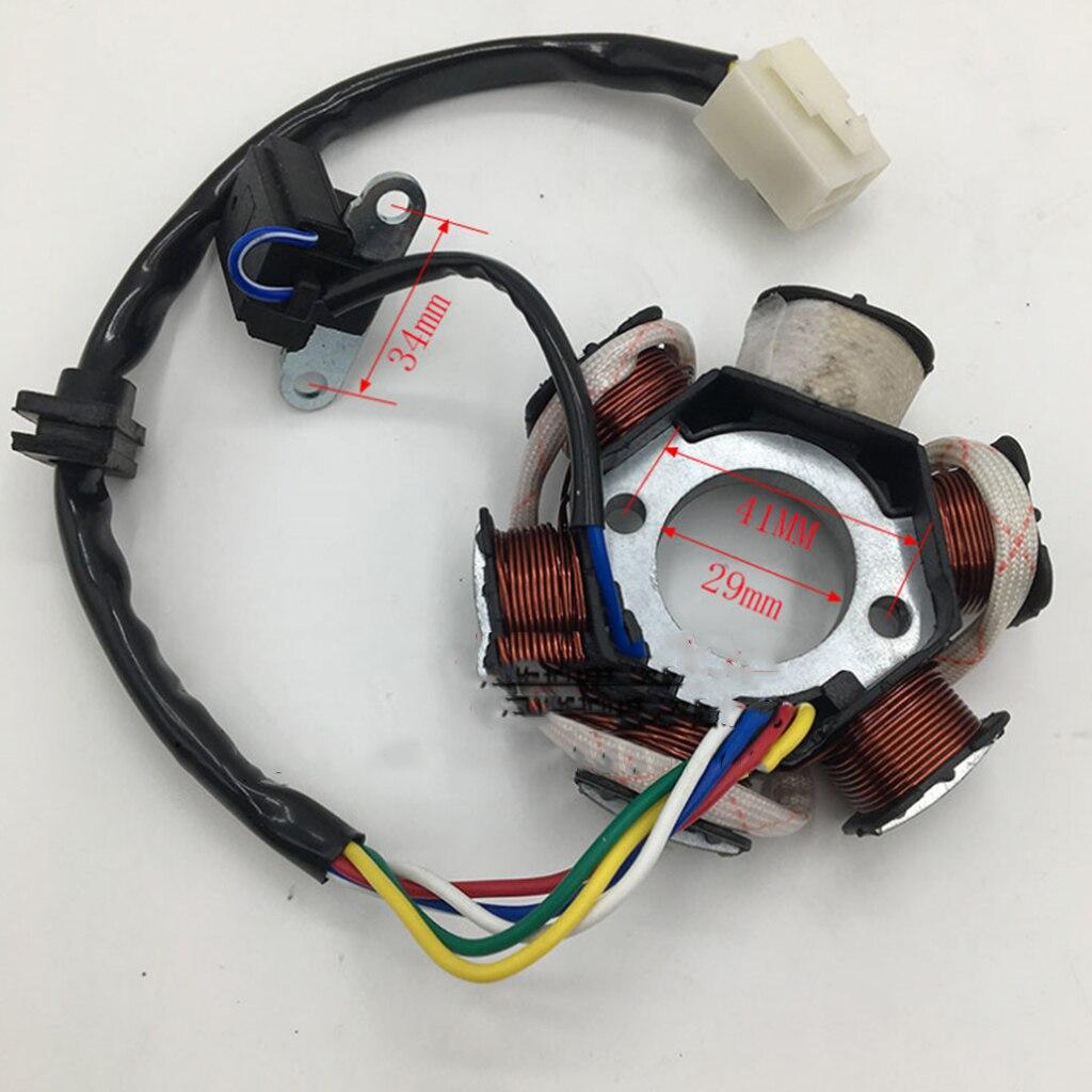 6 estator de polo bobina Magneto ajuste 110cc 125cc Quad moto ATV