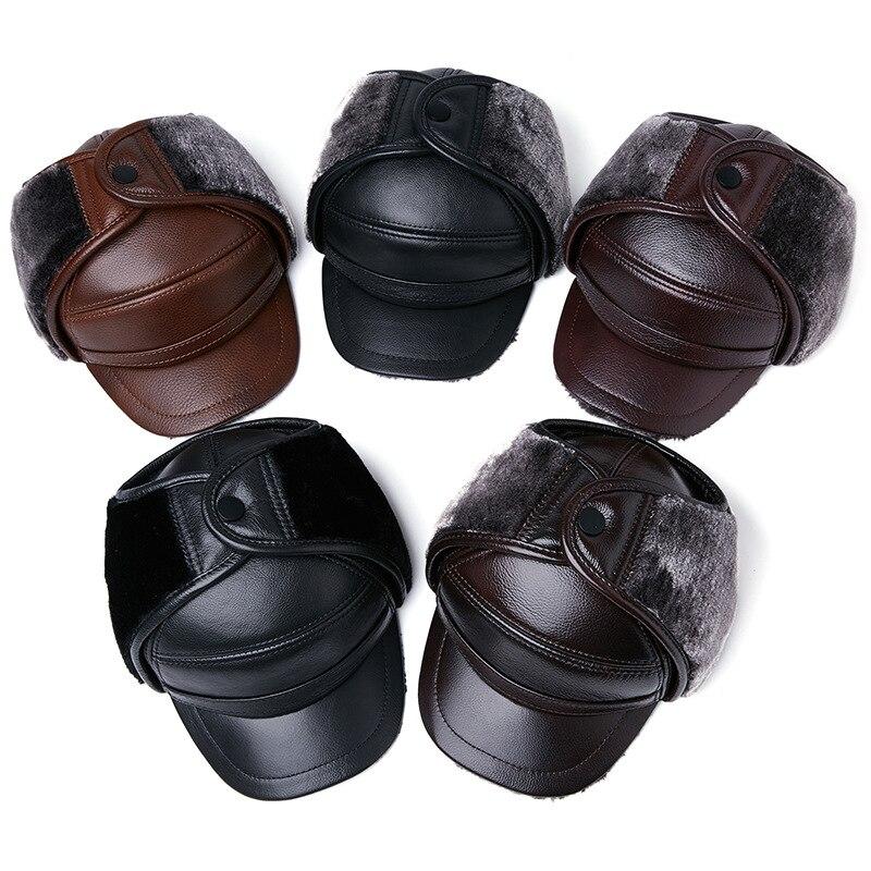 قبعة شتوية للرجال والنساء ، حماية للأذن ، وجه منفوخ ، فرو سميك ، دافئ ، غطاء للأذنين ، قبعة تزلج