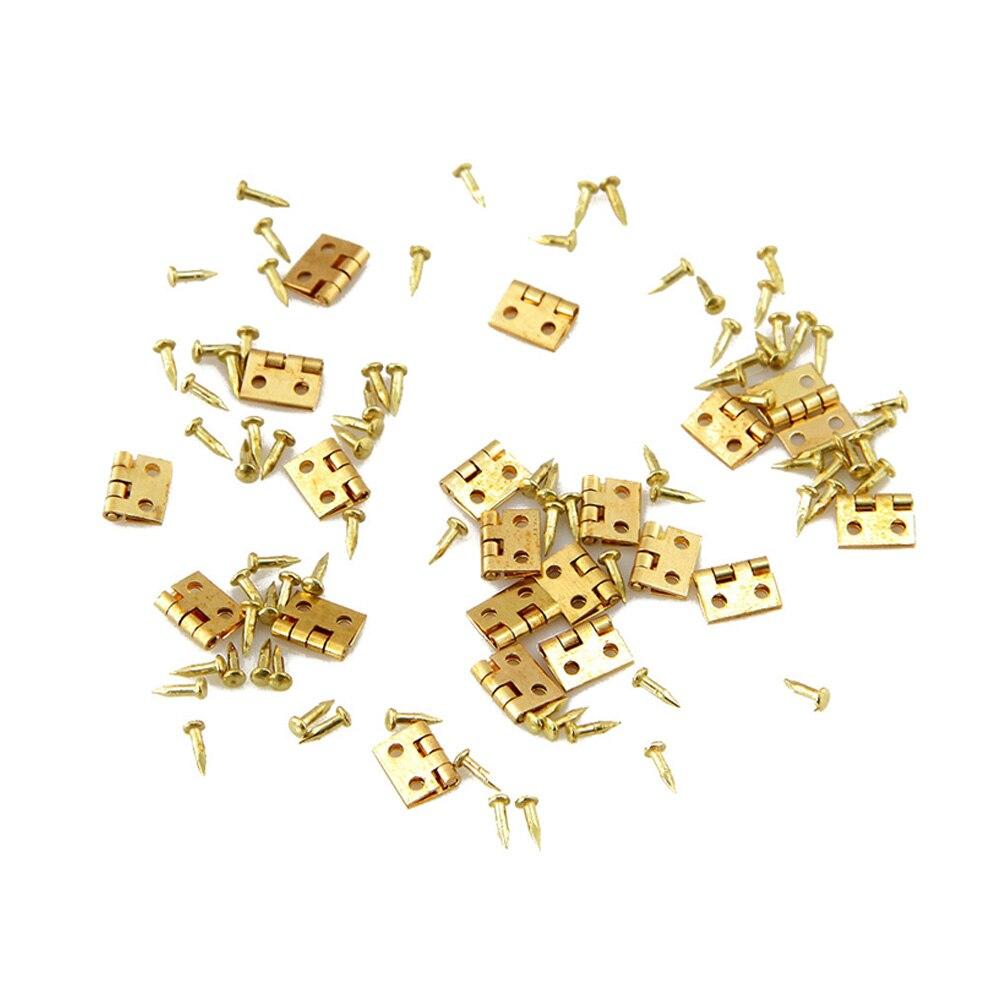 20 Uds Mini bisagra de Metal miniatura Cabine muebles en miniatura armario Mini bisagras gabinete cajón bisagras conectores