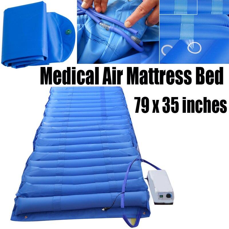 220V Air Mattress Alternating Pressure Pump Pad Medical Bed Overlay Hospital