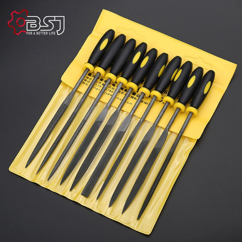 10 Pcs Needle File Set For Jeweler Wood Carving Craft Metal Glass Stone 3 Sizes LS'D Tool