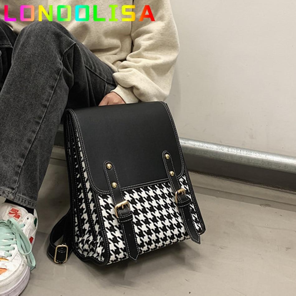 الكورية نمط المرأة على ظهره موضة INS 3 طبقات hh9 stبتقنية الظهر حزمة حقائب للفتيات الفاخرة شعرية الإناث حقيبة كتف