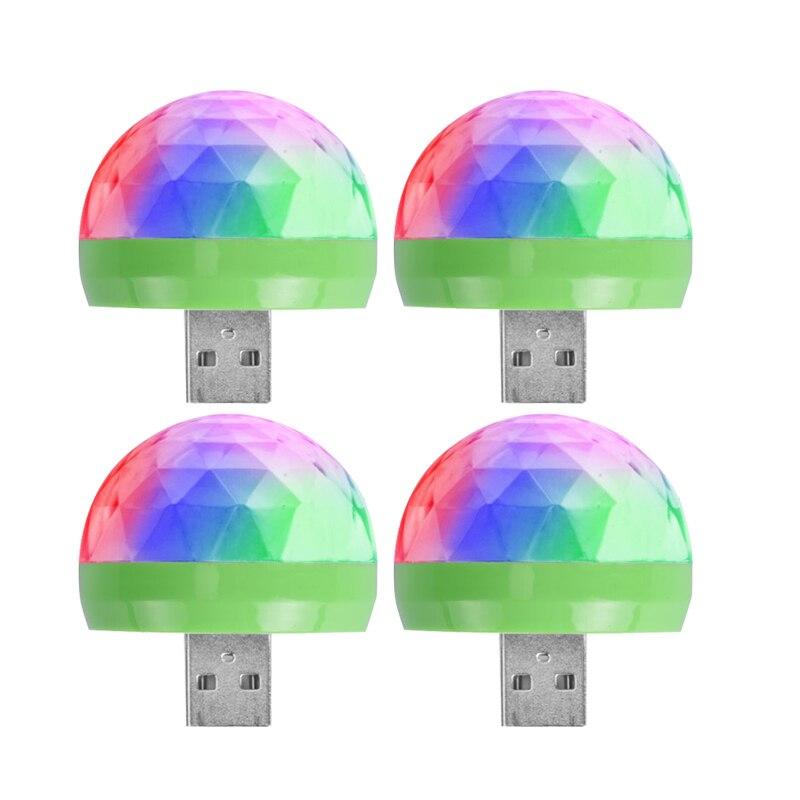 Coloré RGB LED ampoule scène lumière Disco DJ fête lampe vacances ampoule USB cristal magique boule lampe pour Bar KTV accueil fête éclairage