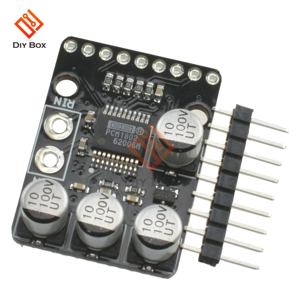 Pcm1802 placa de amplificador de som estéreo 24-bit 96-khz 3.3v/5v a/d conversor decodificador digital amp áudio player placa de amplificador