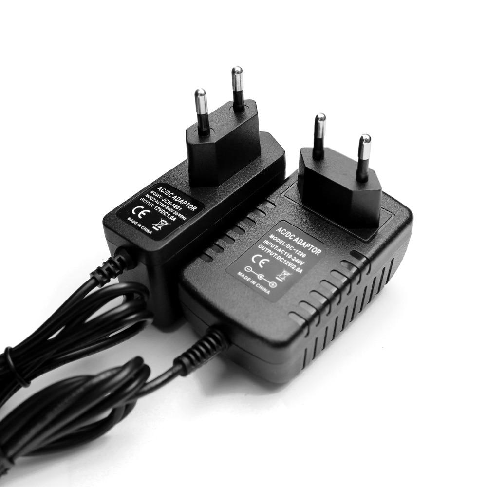 Adaptador de corriente LED DC 5 V 12 V 24V 1A 2A 3A adaptador 220V a 5 V 12 V 12 V cargador de voltios de alimentación Universal de la UE nos enchufe de 220V a 24V