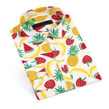 Dioufond 2019 nouveau pastèque fruits imprimer femmes Blouse chemise florale bohême Vintage Blouses blanc bureau chemises mode grande taille