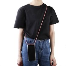 Pour Xiao mi mi 9 SE 8 A2 lite rouge mi 7 7a Note 7 pro 6 5 bandoulière coque de téléphone avec lanière collier bandoulière