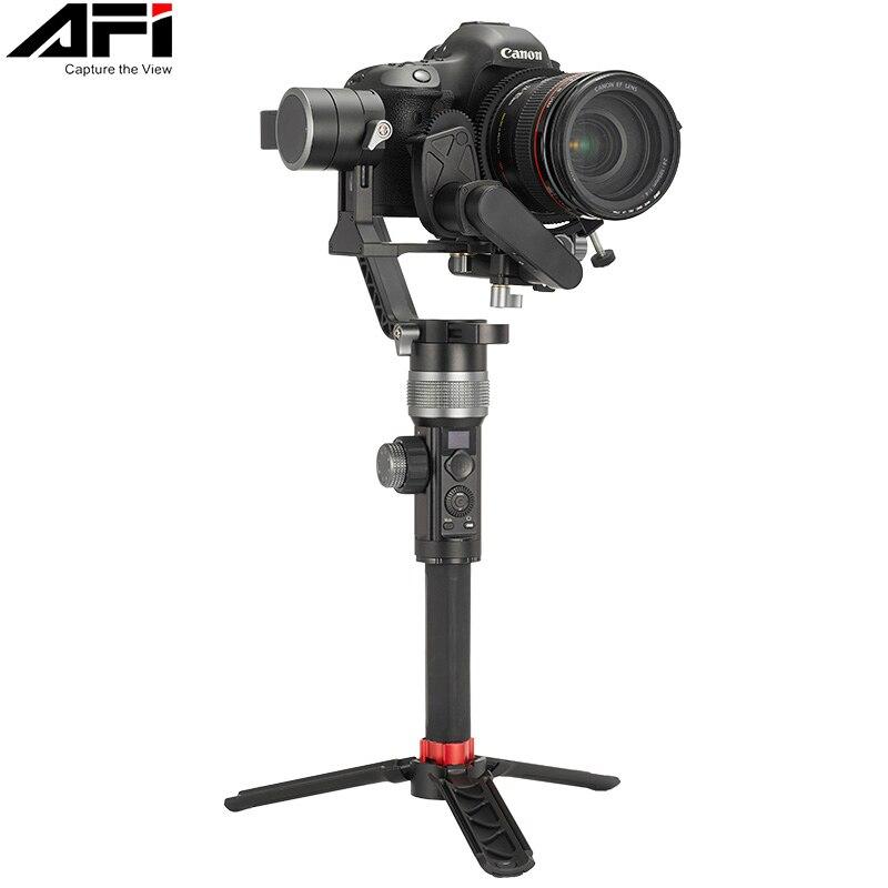 AFI D3 Gimbal مثبت للكاميرا Gimbal Dslr المحمولة 3-محور استقرار الفيديو المحمول مع مضاعفات اتبع التركيز لجميع الموديلات
