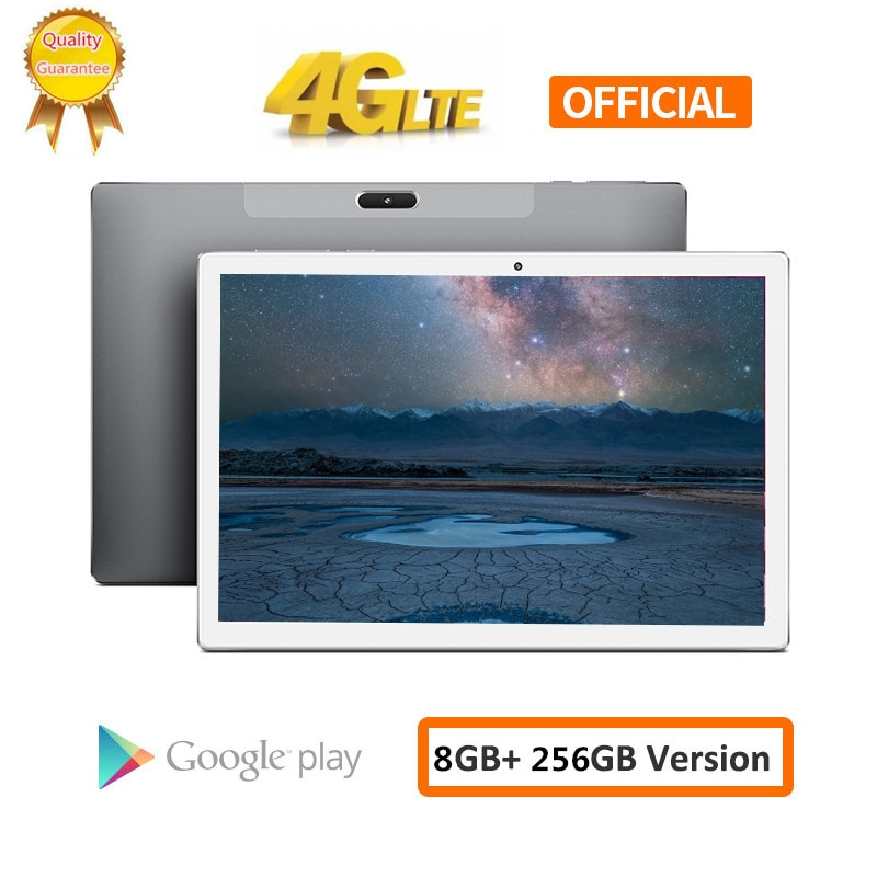 Carbayta tablet pc 10.1 polegada 4g rede android 8.0 8 gb ram 256 gb rom mt6797 x20 10 deca núcleo 1920x1200 8000 mah gps duplo wifi
