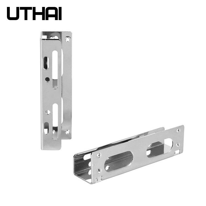 Uthai g23 2.5 polegada 3.5 polegada hdd suporte disquete adaptador disco rígido caddy bay para ssd m.2 hdd titular galvanizado