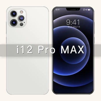New 6.7Inch i12 Pro Max Phone GPS Snapdragon 865 Camera 48MP 12GB 512GB 5000mAh Android10.0 Deca Core 4G 5G LTE Smart Cell Phone